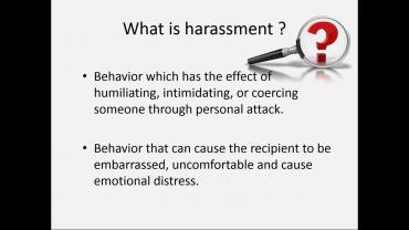 Harassment and Discrimination Awareness