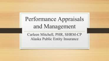 Performance Appraisals and Evaluations